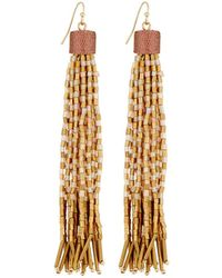Lydell NYC - Ombré Tassel Bead Drop Earrings - Lyst