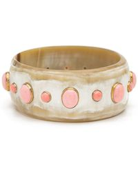 Ashley Pittman - Light Horn Bangle W/ Coral - Lyst