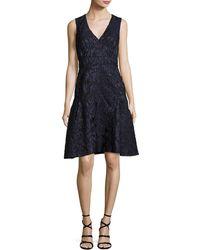 J. Mendel - Sleeveless Fil Coupe Dress Blue - Lyst