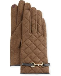 Portolano - Wool-blend Quilted Gloves - Lyst