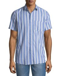 Sovereign Code - Men's Striped Short-sleeve Sport Shirt - Lyst