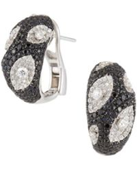 Roberto Coin - 18k Meteorite Diamond & Sapphire Earrings - Lyst