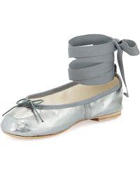 Ballet Beautiful - Street Ballerina Ankle-wrap Flat - Lyst