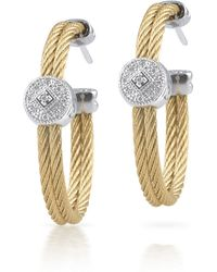 Alor - Cable Hoop Earrings W/ Diamond Pave - Lyst