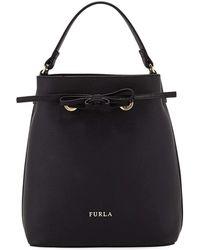 Furla - Costanza Small Leather Bucket Bag - Lyst
