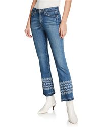 10 Crosby Derek Lam Jane Flared Ankle Frayed-edge Jeans