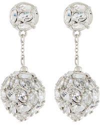 Kenneth Jay Lane | Crystal Dangle Drop Earrings | Lyst