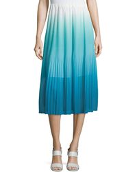 Magaschoni - Ombre Pleated Tea-length Skirt - Lyst