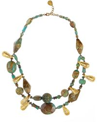 Devon Leigh - Double-strand Turquoise Necklace - Lyst