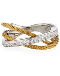 Alor - Two-tone Layered Triple-band Diamond Ring - Lyst
