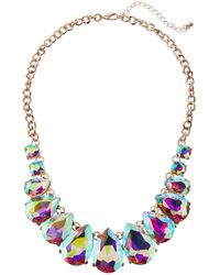 Romeo and Juliet Couture - Iridescent Crystal Bib Necklace - Lyst