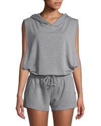 253753913f0 Lyst - Rag   Bone Hooded Zip-up Romper Grey in Gray