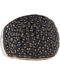 John Hardy - Bedeg Silver Lava Pave Black Sapphire Ring Size 7 - Lyst