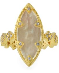 Freida Rothman - Textured Mother-of-pearl Eyelet Ring Size 8 - Lyst