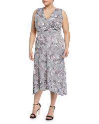 RACHEL Rachel Roy - Giles Check Midi Dress - Lyst