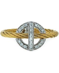 Alor - Diamond Circle-station Ring Gold Size 6.5 - Lyst