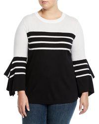 Vince Camuto Signature - Colorblocked Handkerchief-sleeve Sweater - Lyst