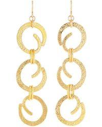 Devon Leigh - Textured Swirl Chain Drop Earrings - Lyst
