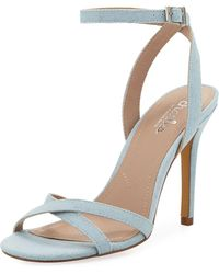 Charles David - Rome Denim High-heel Sandal - Lyst