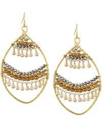 Nakamol - Open Fringe-layer Marquise Drop Earrings - Lyst