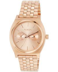 Nixon - 37mm Time Teller Deluxe Bracelet Watch - Lyst