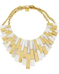 Ashley Pittman - Kifalme Light Horn & Bronze Bib Necklace - Lyst