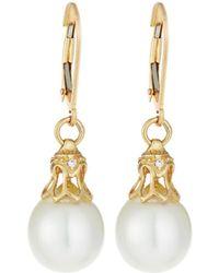 Belpearl - 14k White South Sea Pearl & Diamond Drop Earrings - Lyst