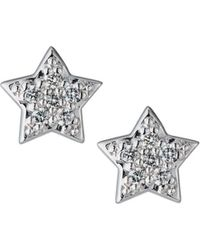 KC Designs - 14k White Gold Diamond Star Earrings - Lyst