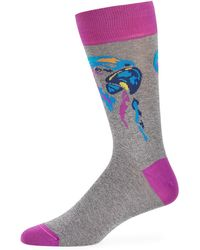 Bugatchi - Men's Parrot Cotton-blend Socks - Lyst