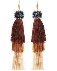 Lydell NYC - Tiered Linear Tassel Drop Earrings - Lyst