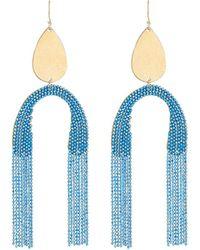 Serefina - Upside-down Fringe Earrings - Lyst