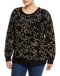 MICHAEL Michael Kors - Metallic Star Jacquard Sweater - Lyst