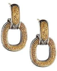 Konstantino - Silver & Gold Daphne Drop Earrings - Lyst