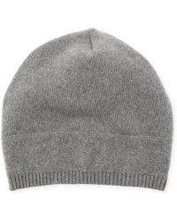 Neiman Marcus - Cashmere Slouchy Knit Beanie - Lyst