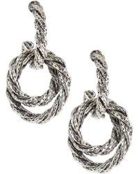 John Hardy - Twist Chain Drop Earrings - Lyst
