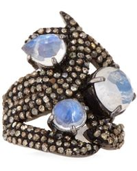 Bavna - Moonstone & Diamond Ring - Lyst