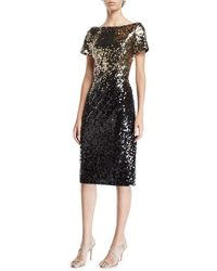 Marina - Ombre Sequin Sheath Dress - Lyst