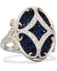 Jude Frances - Florentine 18k Sapphire & Diamond Cocktail Ring - Lyst