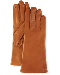 Neiman Marcus - Cashmere-lined Leather Tech Gloves - Lyst