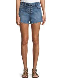 Tularosa - Emma High-rise Lace-up Shorts - Lyst