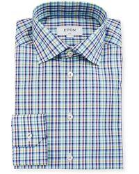 Eton of Sweden - Men's Slim-fit Tattersall Cotton Dress Shirt - Lyst