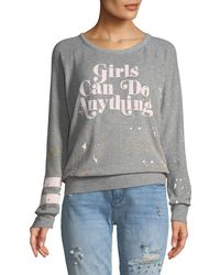 Chaser - Girls Can Do Anything Sweatshirt - Lyst