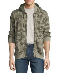 ATM - Camouflage-print Terry Zip-front Hoodie Sweatshirt - Lyst