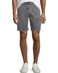 Michael Bastian - Men's Feather-print Stretch Pull-on Shorts - Lyst