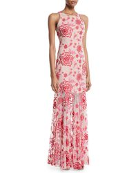 Parker Black - Ava Floral Sleeveless Gown - Lyst