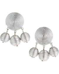Fragments - Threaded Statement Earrings - Lyst