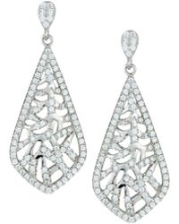 Fantasia by Deserio - Woven Pave Crystal Drop Earrings - Lyst