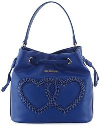 Love Moschino - Heart-stitched Bucket Bag - Lyst
