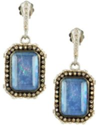 Armenta - New World Blue Sapphire Triplet Earrings With Diamonds - Lyst