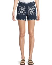 Philosophy - Floral High-waist Cotton Shorts - Lyst